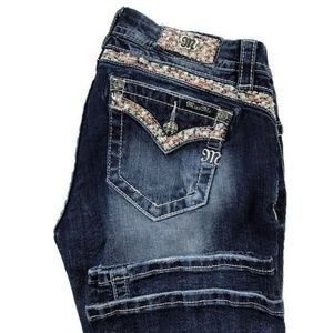 Miss Me Easy Bootcut Embellished Jeans EUC